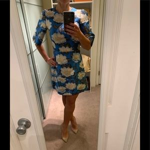 NWT Dolce&Gabbana Water Lily Jacquard Dress 42